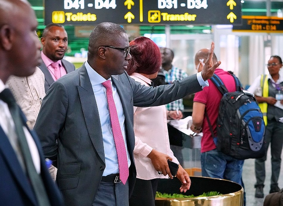 Coronavirus: Sanwo-Olu Pays  Visit To Lagos Airport Putting Techniques In Place To Combat The Epidemic