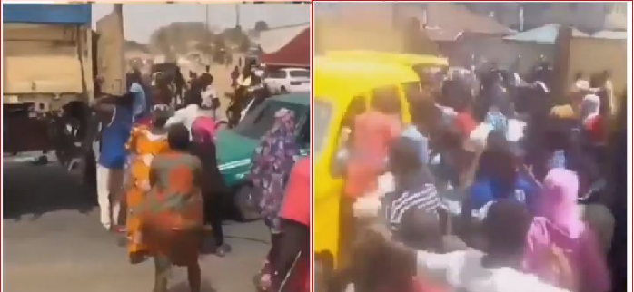 Hungry Nigerians Attack Vehicles Transporting Food Stuff Amids Coronavirus (Watch)