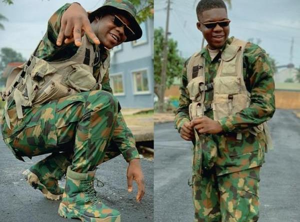 Cute Abiola Faces Panel Today Over Snapping Photos With His Official Uniform