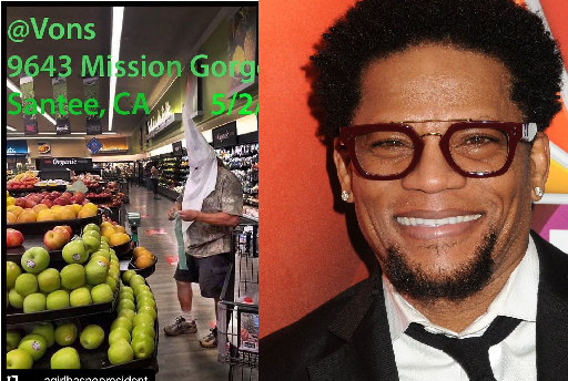 American Actor, Lynn Hughley Calls Out VONS Mart For Allowing Customer Shop With KKK Mask
