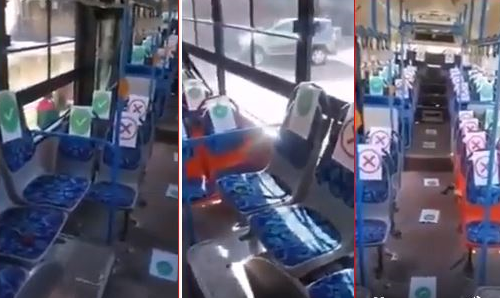 COVID-19: Have You Seen The New BRT Seating Arrangements In Lagos? (Watch Video)