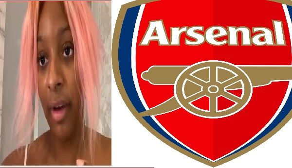 DJ Cuppy Cries And Leaves Arsenal After Club Lost To Brighton In A 2-1 Match