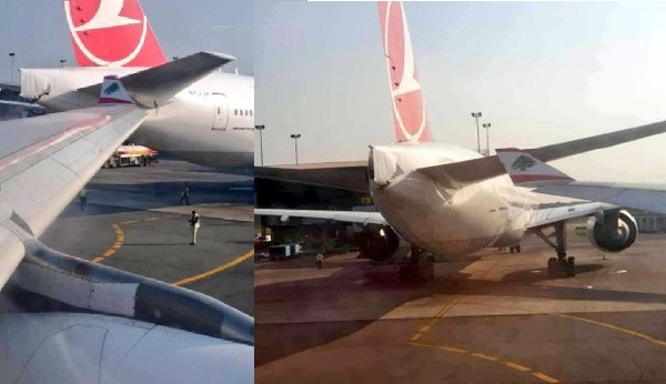 What Were The Pilots Thinking? Two Airplanes Run Into Themselves At Lagos Airport