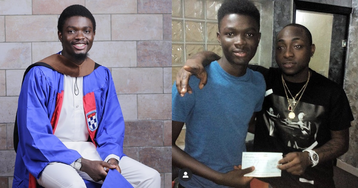 Boy who dropped out of school in England due to lack of funds appreciates Davido for partly funding his education after he returned to Nigeria