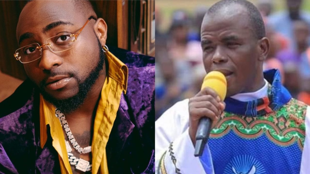 Davido Reacts To Report of Father Mbaka Missing