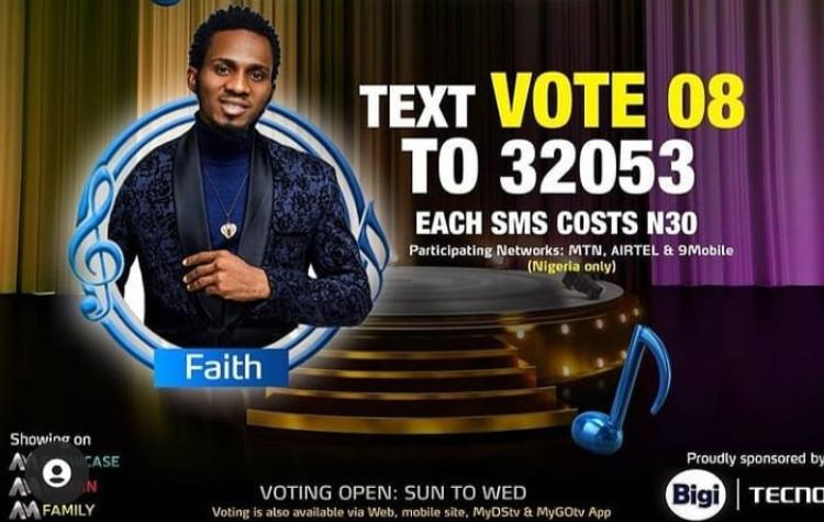 How to FAITH Nigerian Idol Season 6 (2021)   SMS Voting Code, Website and MyGOTV and DSTV App