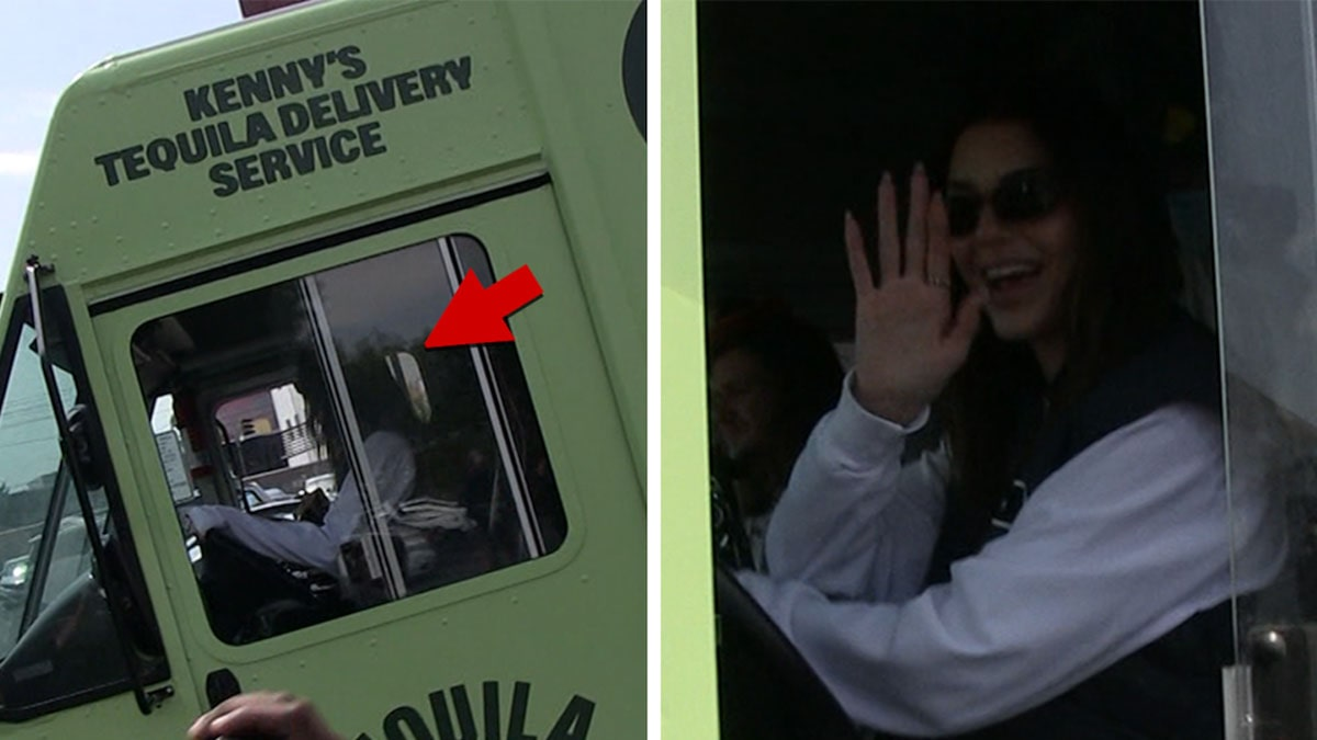 Kendall Jenner Drives Huge Truck Delivering Her Tequila to Liquor Store