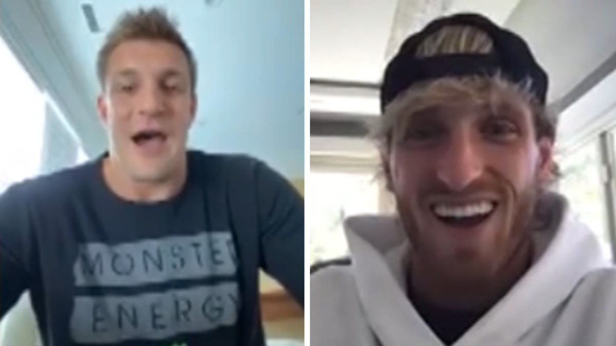 Logan Paul Sparred 4 Gronkowski Bros While Training for Mayweather, 'They're Massive'