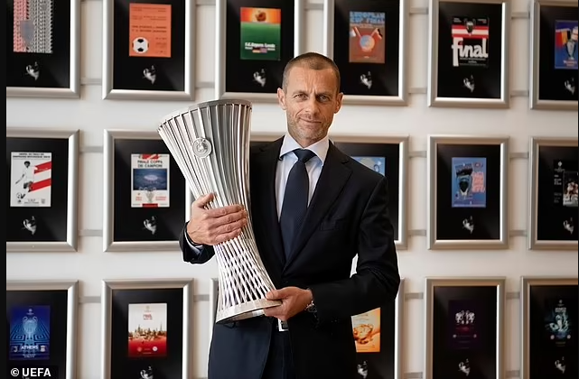 UEFA Unveil The Trophy For The Newly Formed Europa Conference League