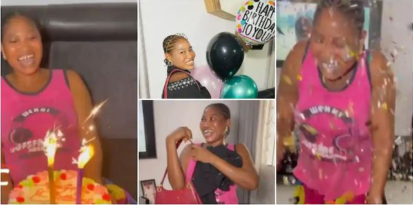 Touching Video As Nigerian Lady Throws Surprise Birthday Party for Her Maid