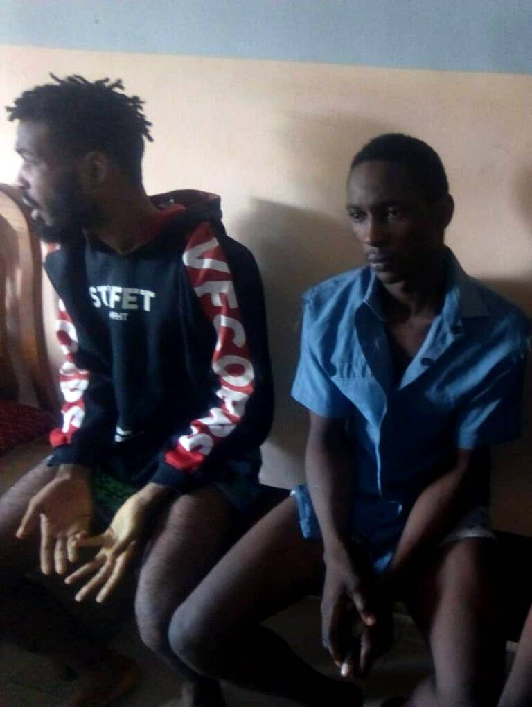 Two Arrested For Stealing ₦70,000 From Betting Shop In Imo (Photo)