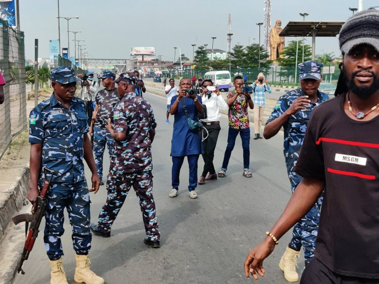 June 12: Protesters Arrested By Police In Ojota, Lagos (Photo News)