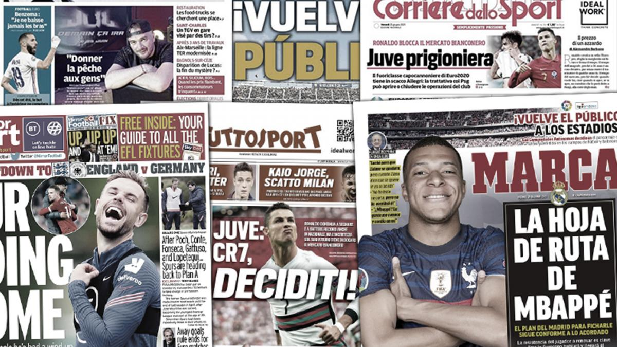 Cristiano Ronaldo paralyzes Juve's transfer window, Real Madrid's plan does not change for Kylian Mbappé