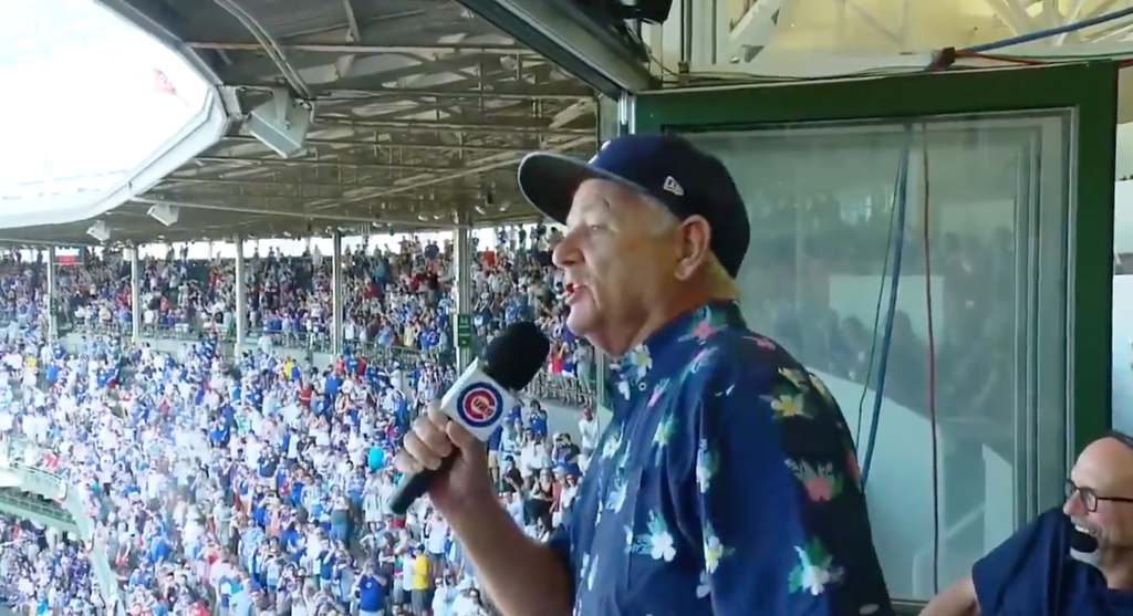 Bill Murray Leads Cubs to Victory with 'Take Me Out to the Ball Game'