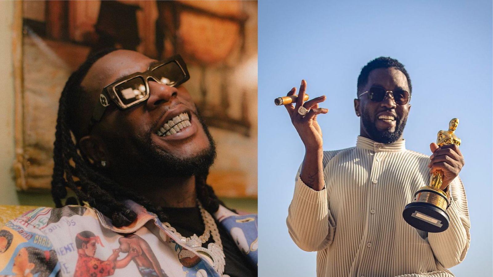 Burna Boy reunites with Diddy after Grammy win