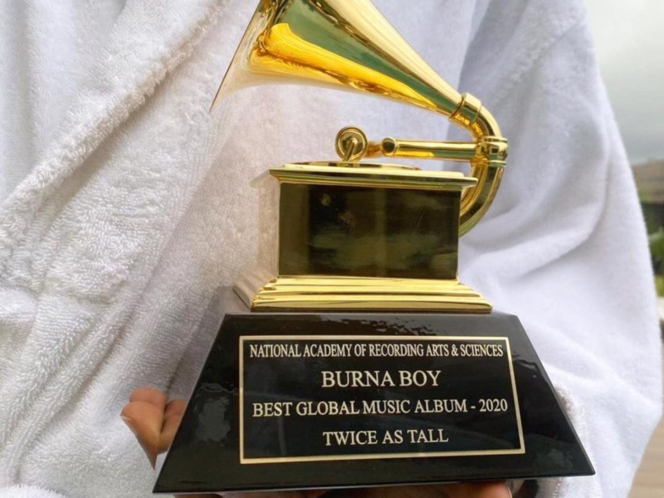 """""""Early Morning Deliveries"""" – Burna Boy Finally Receives Grammy Plaque 