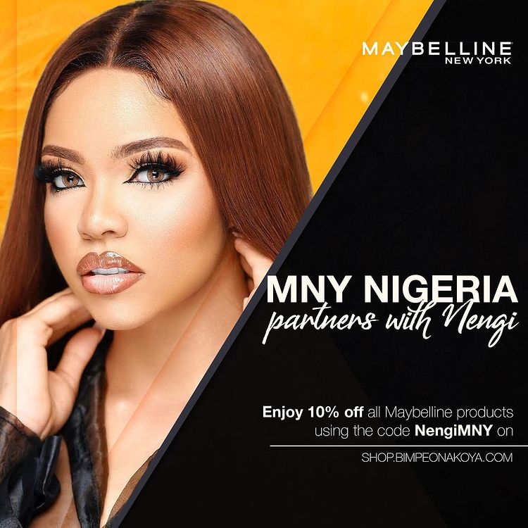 Nengi Gets Partnership Deal with Maybelline New York