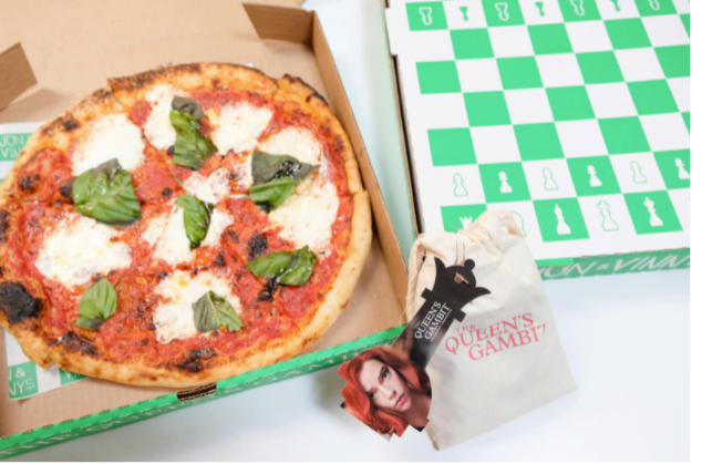 Netflix Partners With Jon & Vinny's for The Queens Gambit Pizza Boxes