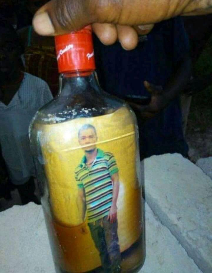 Shock As Photo Of Turkey-Based Nigerian Man Is Found Inside A Bottle Buried In Front Of His Uncompleted Building