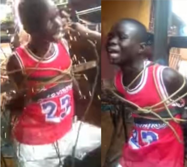 Heartbreaking Footage Of A Boy Pleading For Mercy As He's Tied To A Metal Cross And Shocked With Electric Wire