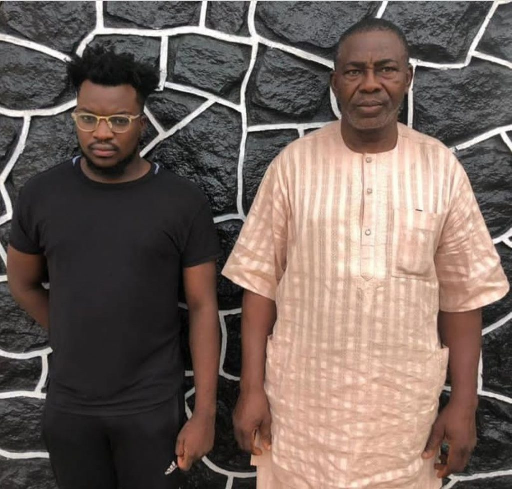 Serious Drama As EFCC Nabs Father And Son For Alleged Internet Fraud In Lagos (Photo)