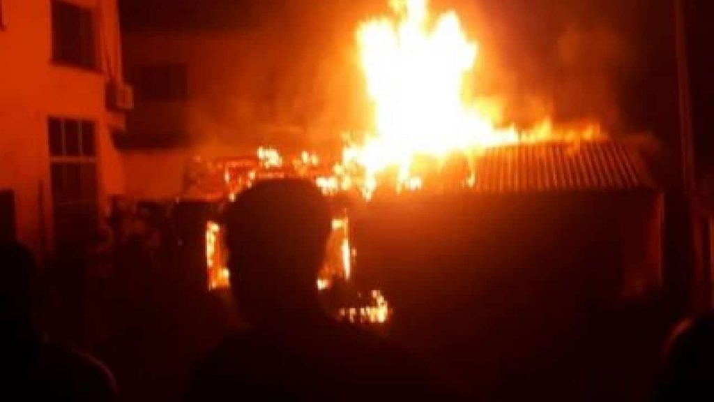 Angry Man Burns Down His Wife's Hut In Jigawa. See why