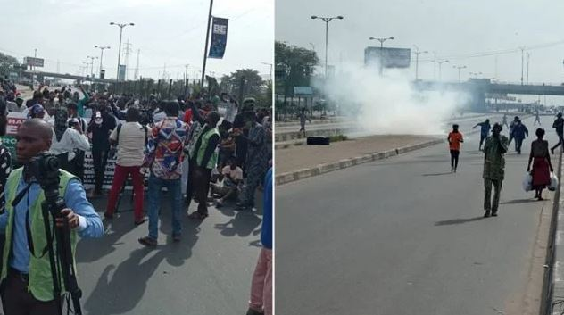 June 12: Police Fire Tear Gas At Protesters In Lagos