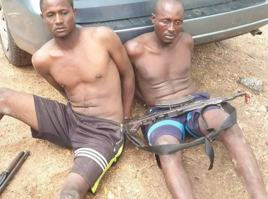 Notorious Kidnappers Arrested After Gun Duel With Vigilantes And Hunters In Kogi (Photos)