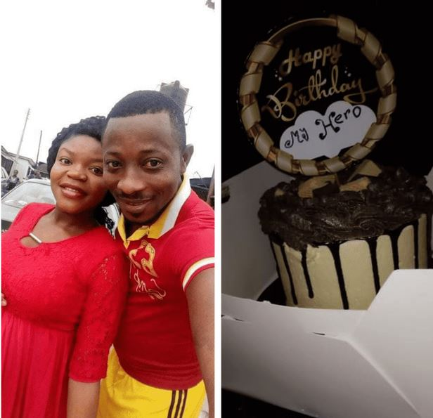 """I Have Never Cut A Birthday Cake Since I Was Born"""" – Nigerian Man Says As He Appreciates Wife For Surprising Him With A Cake"""