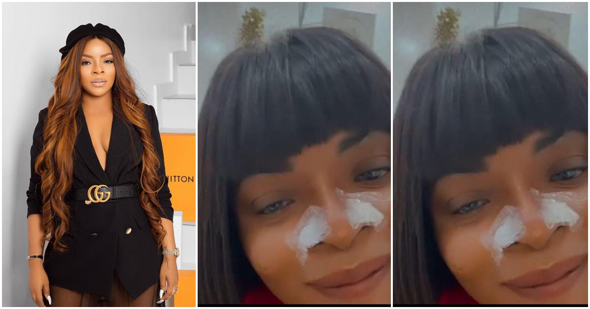 """""""She will soon cut out the nose completely"""" Fans react as Laura Ikeji revisits a surgeon for her nose job"""