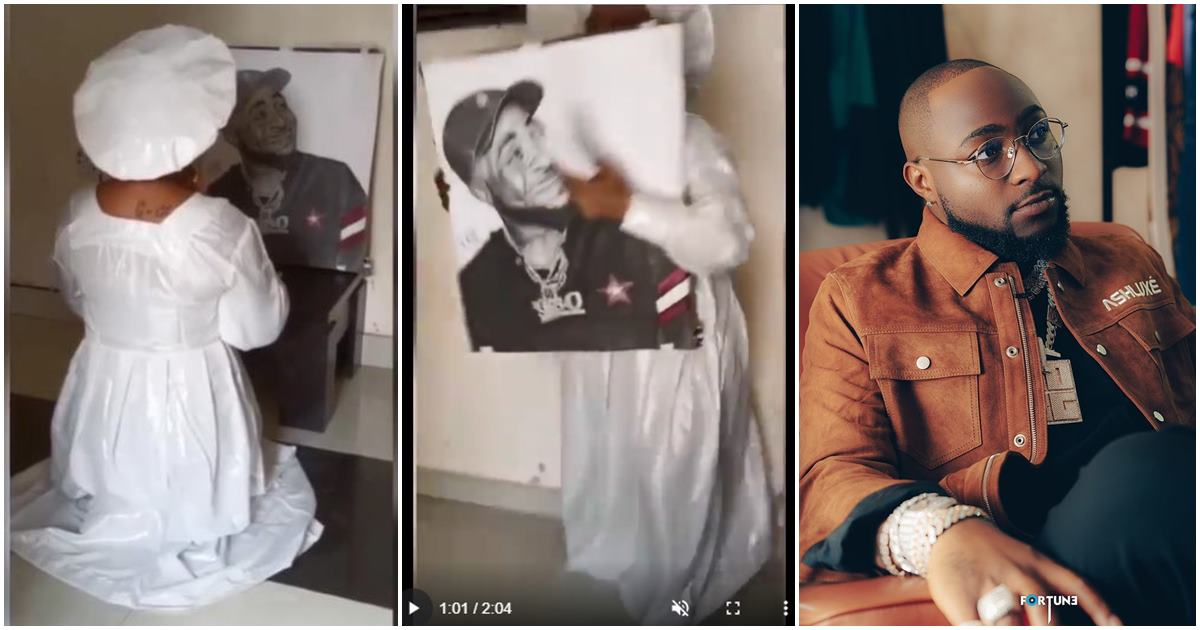 Fan of Davido goes ballistic as she engages in 3 days of spiritual warfare on his behalf (Video)