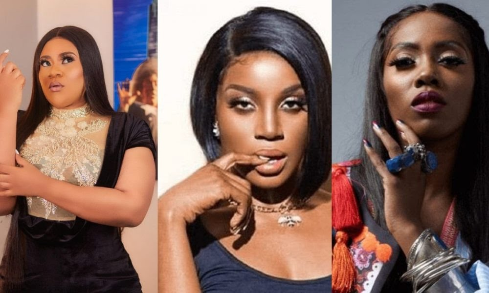 'I will beat you' – Nkechi Blessing threatens over Seyi Shay and Tiwa Savage's public fight