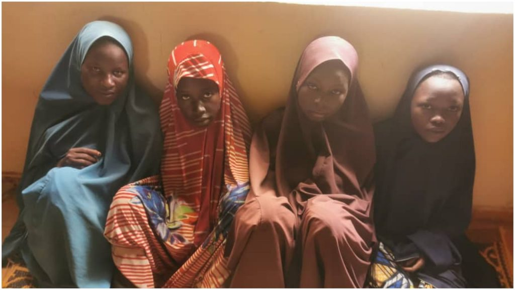 Photo Of 4 Women Rescued By Police After Spending Weeks In Bandits' Captivity