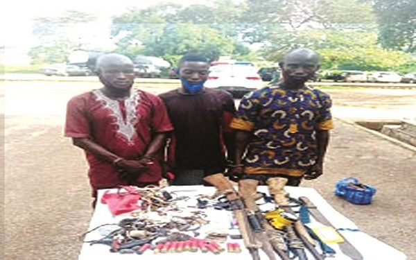 Photo Of The 3 People Arrested For Attacking Fulani Herdsmen, Shooting Cows In Oyo