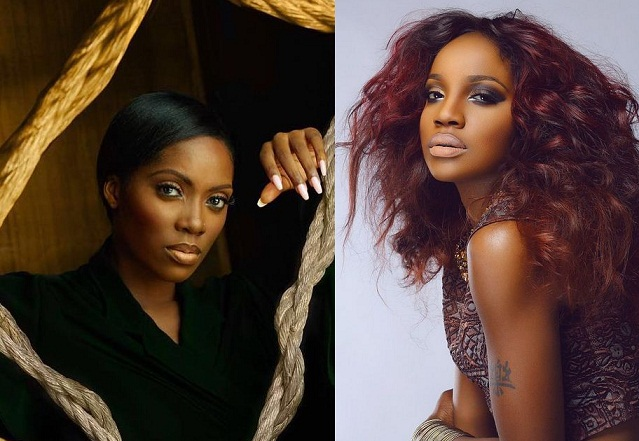 Serious Drama As Popular Singers, Tiwa Savage And Seyi Shay Fight Dirty Inside A Salon
