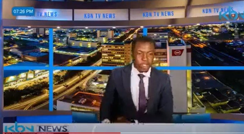 Zambian TV News Presenter Goes Off Script, Demands For His Salary During A Live News Report