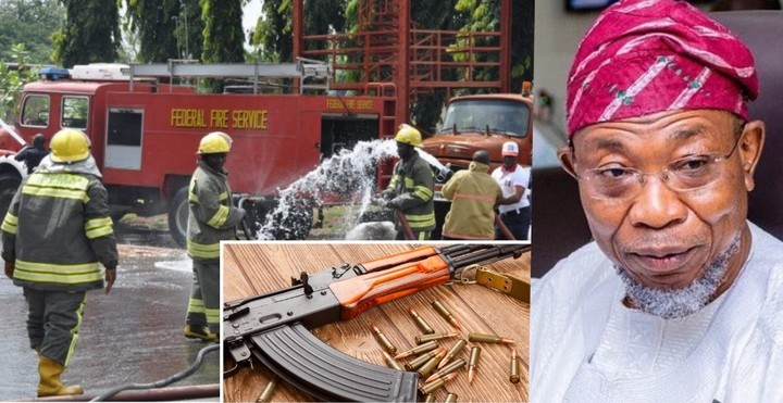 Aregbesola: Fire Service Workers To Start Carrying AK-47, Other Firearms