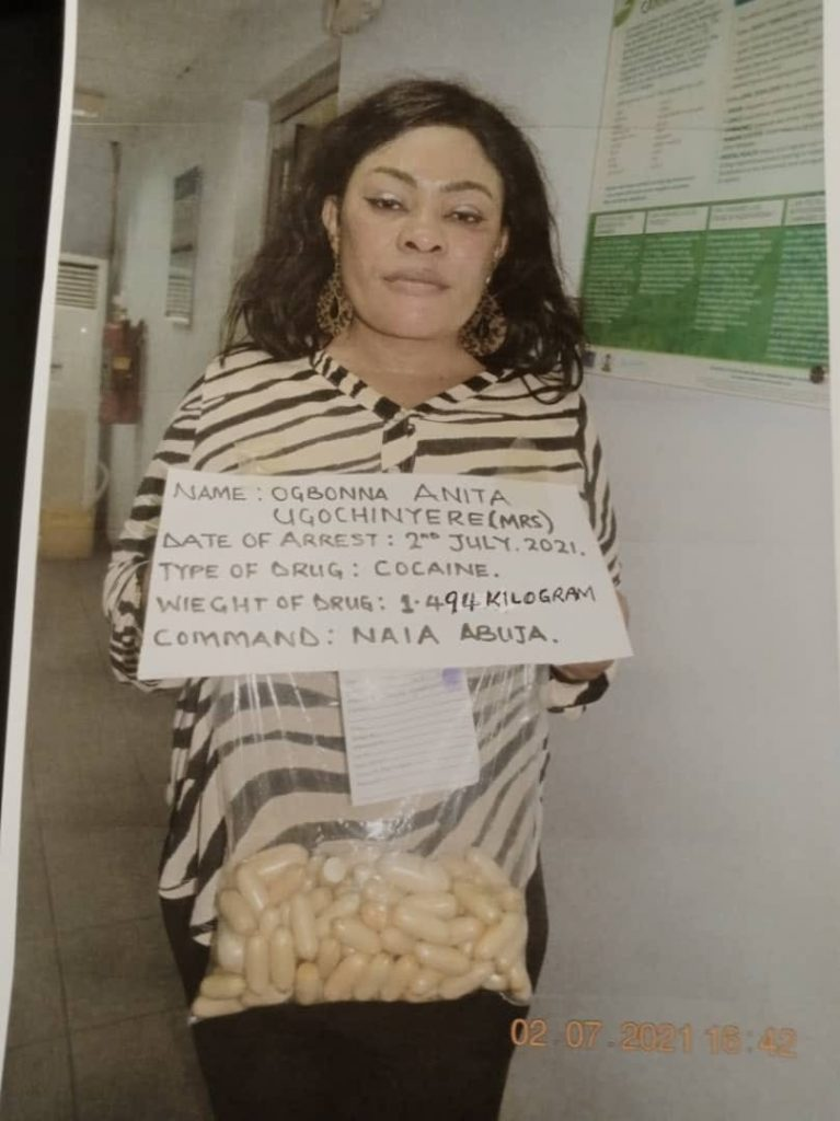 NDLEA Nabs Nigerian Mum-of-3 With 100 Wraps Of Cocaine In Her Private Part, Bag