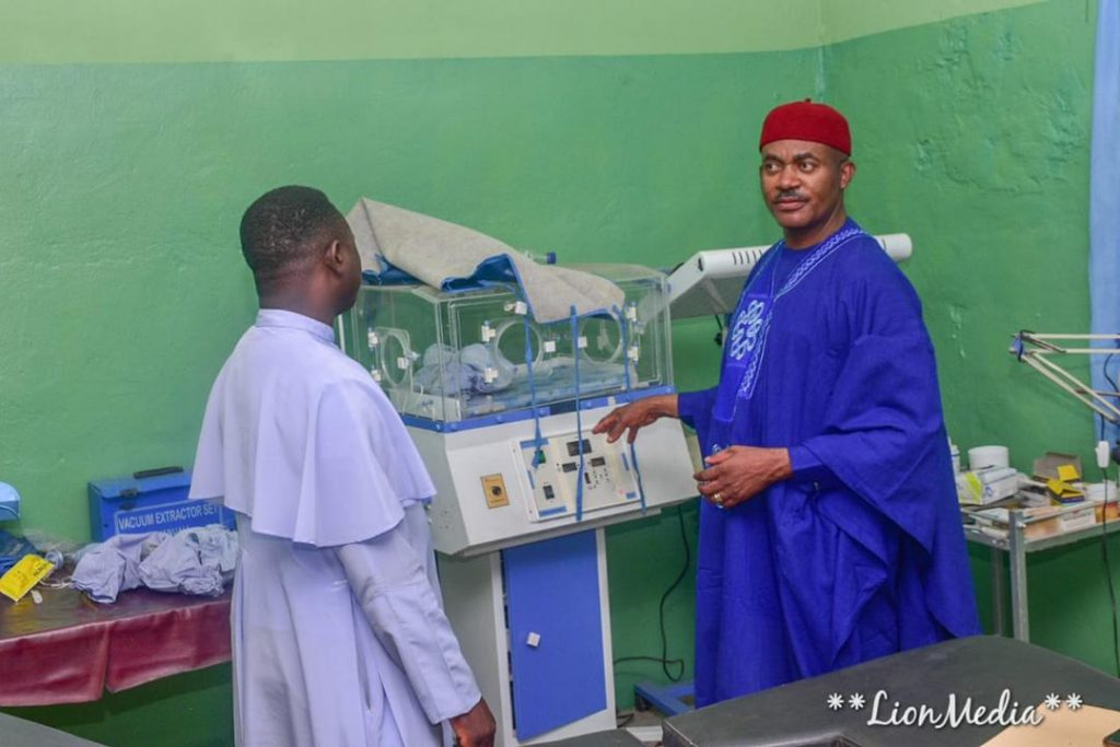 Dr. Maduka Visits Hospital He Built, Renders Financial Support To Patients