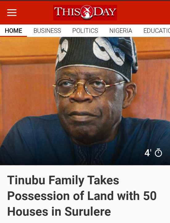 Tinubu Family Takes Possession Of Land With 50 Houses In Surulere Lagos