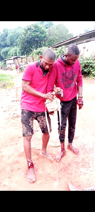 Orlu: 3 Suspected Armed Robbers Caught And Burnt Alive (Graphic Photos)