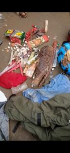 Yahoo Boy Runs Mad In Aba, Fetish Items Found In His Car (Pics, Video)