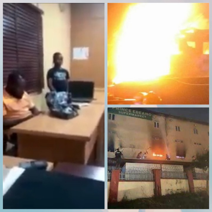 9-Year-Old Girl Set Ebeano Supermarket On Fire (Video)