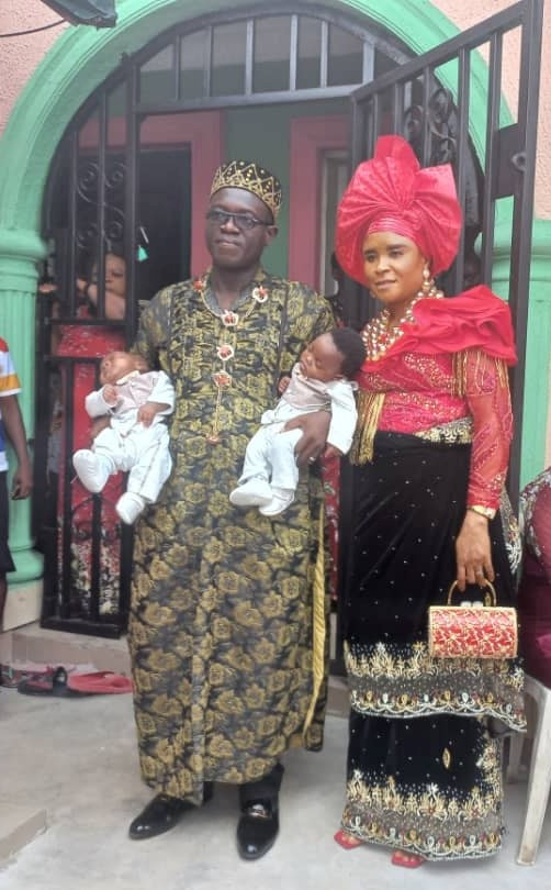 Nigerian Couple Welcome Twins After 16 Years Of Marriage (Photos)