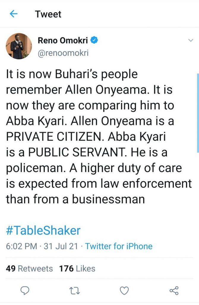 Allen Onyeama Wasn't Extradited Because He's A Private Citizen – Reno Omokri