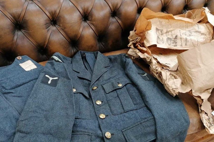 """World War II uniform found in a """"full of history"""" package"""