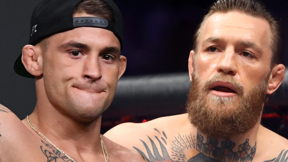 Conor McGregor, Dustin Poirier Face Off At UFC 264 Press Conference