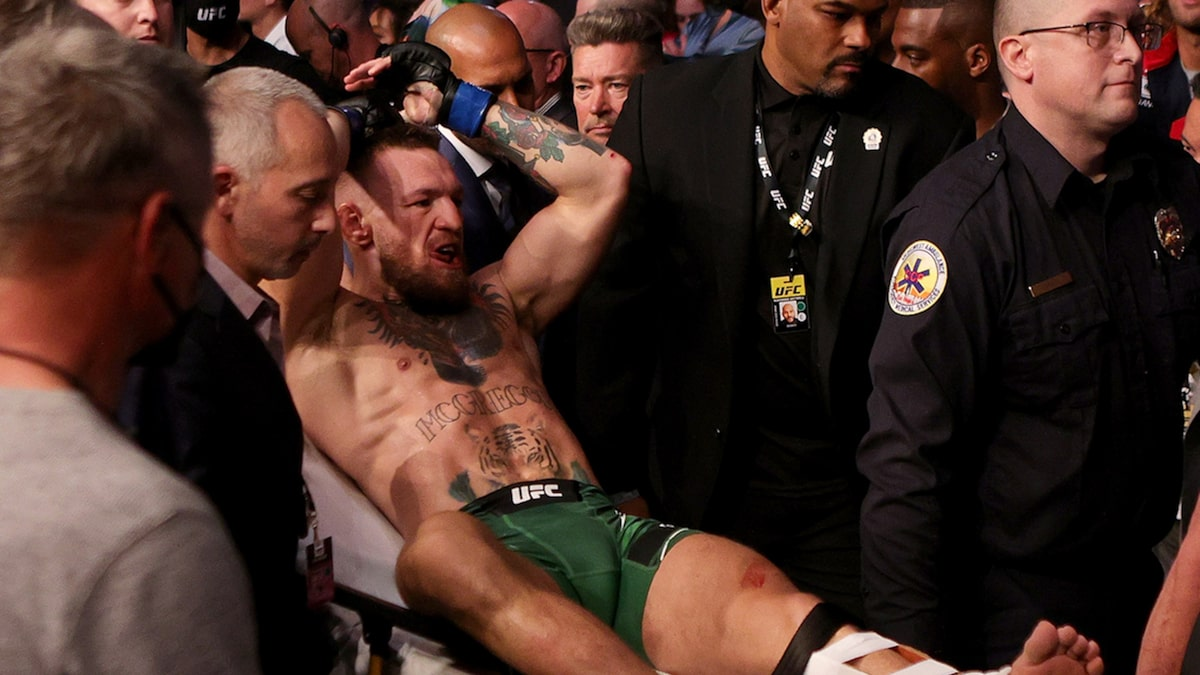 Conor McGregor Released From Hospital After Surgery On Broken Leg