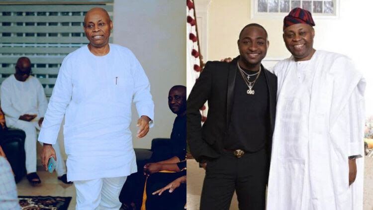 """""""Generational wealth is a must"""" – Nigerians react as Davido and his dad drive out in a Roll Royce and a Bentley respectively (Video)"""