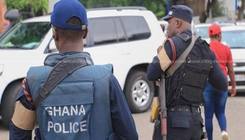 Drama As Ghana Police Arrest Nigerian Man As Suspect For Robbing Filling Station